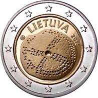 Litauen  2016  2 Euro  Commemo  Baltische Cultuur  UNC Uit De Rol  UNC Du Rouleaux  !! - Lituanie