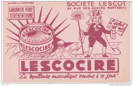 Au Plus Rapide Buvard Société Lescot Rue Des Sorins Montreuil Lescocire Encaustique Abeille - Buvards, Protège-cahiers Illustrés