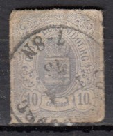 Luxembourg YT N°17 10c Violet Gris - 1859-1880 Armoiries