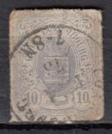 Luxembourg YT N°17 10c Violet Gris - 1859-1880 Wappen & Heraldik
