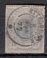 Luxembourg YT N°17 10c  Bleu Clair - 1859-1880 Armoiries