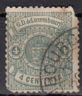 Luxembourg YT N°28   4c Vert - 1859-1880 Armoiries