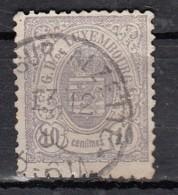 Luxembourg YT N°42   10c Gris Violet - 1859-1880 Wappen & Heraldik