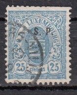 Luxembourg YT N°45   25c Bleu - 1859-1880 Wappen & Heraldik