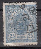Luxembourg YT N°45   25c Bleu - 1859-1880 Armoiries