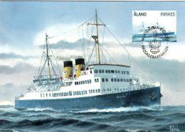 BALTIC SEA OSTSEE MER BALTIQUE OLD  PASSENGER FERRY BOAT VIKING LINE ALAND FINLAND  2009 MAXIMUM MAXI CARD CARTE - Maritime