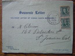 USA / ETATS UNIS - California : Santa Barbara : Souvenir Letter Of Scenic Santa Barbara - 1907 - Santa Barbara