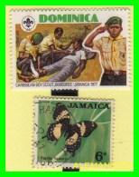 JAMAICA  - 2 SELLOS AÑO 1977 - Jamaica (1962-...)