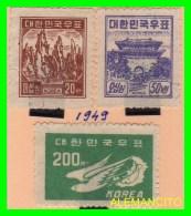 KOREA   - 3 SELLOS NUEVOS DEL  AÑO 1949 - Corea (...-1945)