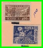 KOREA   - 2 SELLOS NUEVOS DEL  AÑO 1949 - Corea (...-1945)
