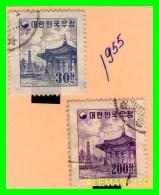 KOREA   - 2 SELLOS  DEL  AÑO 1955 - Corea (...-1945)