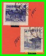 KOREA   - 2 SELLOS  DEL  AÑO 1952-54 - Korea (...-1945)