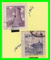 KOREA   -  2  SELLOS  DEL  AÑO 1954-66 - Corea (...-1945)