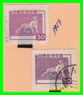 KOREA   -  2  SELLOS  DEL  AÑO 1957 - Corea (...-1945)