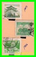 KOREA   -   3  SELLOS  DEL  AÑO 1954-57 - Corea (...-1945)