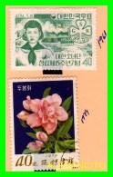 KOREA   -   2  SELLOS  DEL  AÑO 1961-74 - Corea (...-1945)