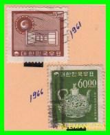 KOREA   -   2  SELLOS  DEL  AÑO 1961-66 - Corea (...-1945)