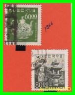 KOREA   -   2  SELLOS  DEL  AÑO 1966 - Corea (...-1945)