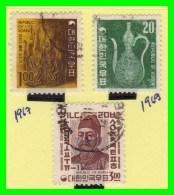 KOREA   -   3  SELLOS  DEL  AÑO 1967-69 - Corea (...-1945)