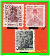 KOREA   -   3  SELLOS  DEL  AÑO 1975 - Corea (...-1945)