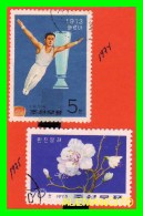 KOREA   -  2  SELLOS   DEL  AÑO 1974-75 - Corea (...-1945)