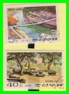 KOREA   -  2 SELLOS  DEL  AÑO 1973 - Corea (...-1945)