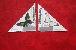 Surinam / Suriname 1997 Butterflies Overprinted Vlinders Papillon (ZBL 918-919 Mi -  Sc 1091A-1092A) POSTFRIS / MNH ** - Surinam