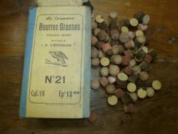 """Article Pour CARTOUCHERIE : Bourres Grasses N° 21  """"à L'épervier""""  250 G,   1ère Qualité Cal. 16, Epr. 13m/m - Autres Collections"""