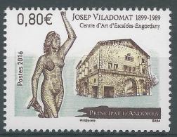 Andorra (French Adm.), Josep Viladomat, Spanish Sculptor, 2016, MNH VF - Unused Stamps