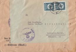 DR Dienst Brief Mef Minr.2x D167 Schwerin 11.4.45 - Dienstpost