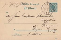 DR Ganzsache KOS Rheinberg (Rheinland) 29.5.93 - Deutschland