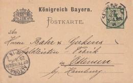 DR Ganzsache Ankunftsst. KOS Altona-Ottensen 23.11.94 - Deutschland