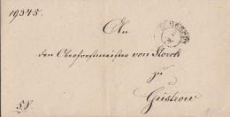 Brief Gelaufen Von Schwerin Am 25.9.1849 Nach Güstrow - Deutschland