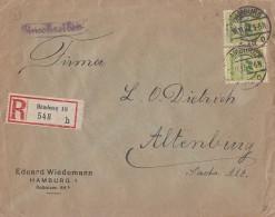 DR R-Brief Mef Minr.2x 328A Hamburg 16.11.23 - Briefe U. Dokumente