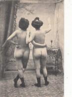 2 Femmes Nus De Dos  - Carte Originale - Nus Adultes (< 1960)