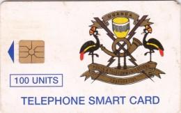 Uganda, UGA-18, 100 Units, Telecom Logo, 2 Scans . - Uganda