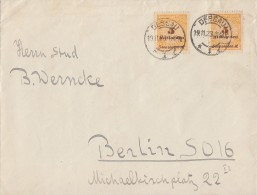 DR Brief Mef Minr.2x 327A Dessau 19.11.23 - Briefe U. Dokumente