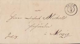 Brief Gel. Von K2 Trier Am 2.4.1844 Nach Merzig - Deutschland