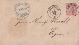 NDP Ganzsachen-Umschlag 1 Groschen K2 Leipzig I. 4.5.70 - Norddeutscher Postbezirk