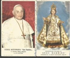 CAL5/6--- CALENDARIETTO,   1959,  OMAGGIO AGLI AMICI E AI BENEFATTORI, SCUOLA MISSIONARIA GESU' BAMBINO, - Calendari