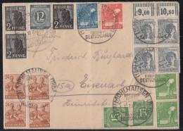 Gemeina. Brief Zehnfach SST Mühlhausen 12.7.48 - Gemeinschaftsausgaben