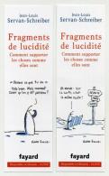 Marque-page - Fragments De Lucidité - Jean-Louis Servan-Schreiber - Fayard - Marque-Pages