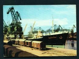 POLAND  -  Szczecin  Mining Dock  Used Postcard - Poland
