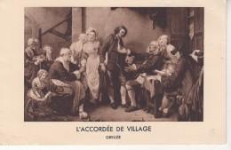 """GREUZE """" L' Accordée De Village """" - Paintings"""