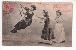 REF 252  : CPA Balancoire Jeux Innocents L'escarpolette - Cartes Postales