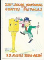 10x15  Albi  Salon De La Carte Postale 25 Mars 1990  Boite Aux Lettres    Illustrateur - Bolsas Y Salón Para Coleccionistas