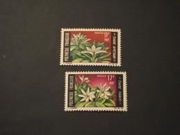POLINESIE - 1969 FIORI 2 VALORI - NUOVI(++) - Polinesia Francese