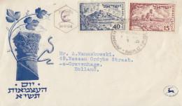 Enveloppe  FDC  1er  Jour    ISRAEL    3éme  Anniversaire  De  L' Etat   1951 - FDC