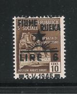 FIUME-Occ. Jugoslava-valore Nuovo Da 6 L. Su 10 C. Con Soprastampa SPOSTATA IN ALTO NON CERTIFICATA-in Buone Condizioni.