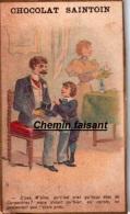 Chromo CHOCOLAT SAINTOIN - De Carpentras Ou Grec ? - Scans  Recto Verso - Chocolat